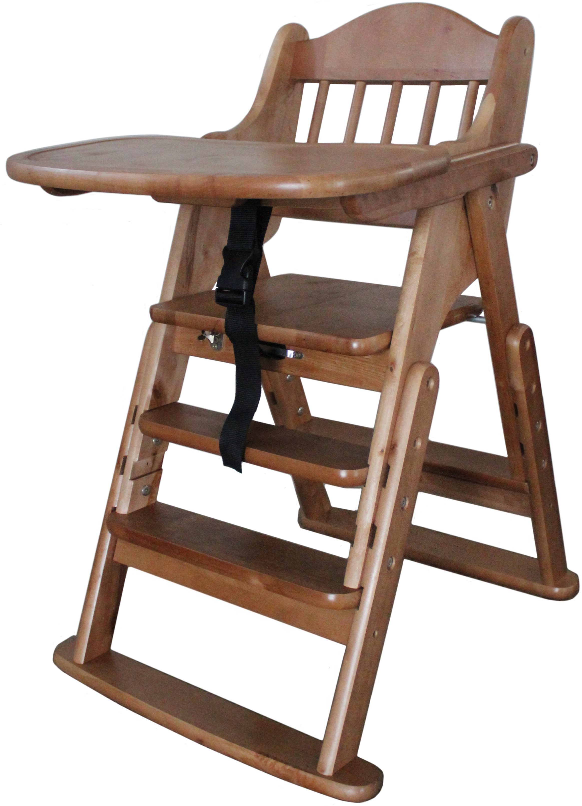 Multifunction Solid Wood High Chair (Front Bar+ Food Tray)