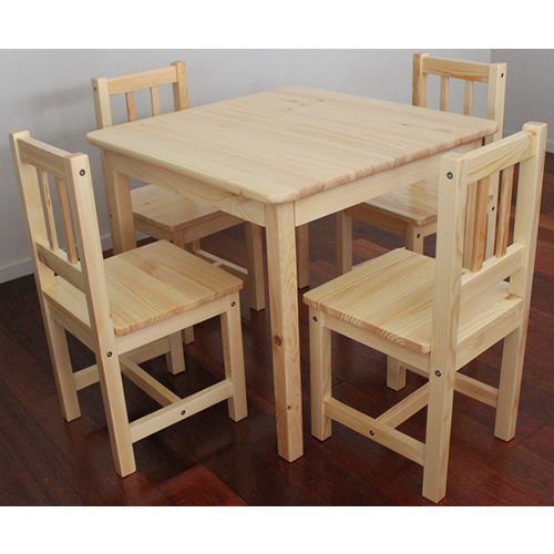 *PREORDER SPECIAL* Solid NZ Pine Child Table + Four Chairs